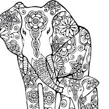 Coloring Pages Elephant Hard For Adults Free Page Online Sheets