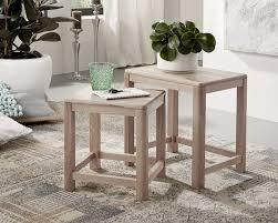 3s frankenmöbel massivholz beistelltisch 2er set corner