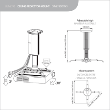 Ceiling Projector Mount Motorized by Projection Screens Lumene Ceiling Projector Mount