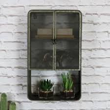 Image Is Loading Retro Rustic Metal Industrial Style Wall Cabinet Bedroom