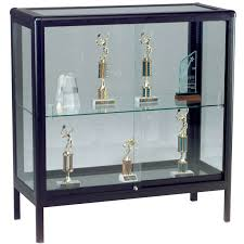 DecorationGlass Curio Hanging Glass Display Box Wall Mounted Showcase Metal Cabinet