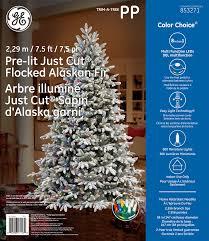 Tree Type Just CutR Flocked Alaskan Fir