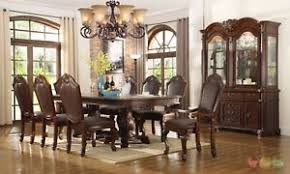 Chateau Traditional11 Piece Formal Dining Room Set Table Chairs