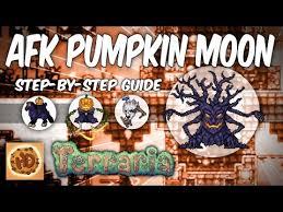 Pumpkin Moon Terraria Farm by Steam Community Terraria Afk Pumpkin Moon Farm Step By