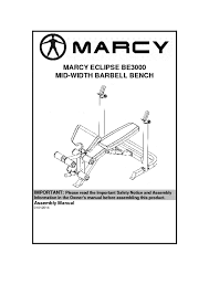 Marcy Eclipse Roman Chair by 14mebe3000 Marcy Eclipse Mid Width Barbell Bench Be3000 Assembly Manual 1 Pdf Jpg