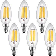 leto b11 6w led light bulbs candelabra base dimmable ul listed