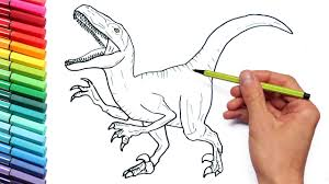 Drawing And Coloring Velociraptor Jurassic World