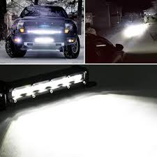 7inch 18W LED Light Bar Spot Beam Work Light Driving Fog Light Road ... 300w 52 Curved Work Led Light Bar Fog Driving Drl Suv 4wd Boat 20 630w Trirow Cree Combo Truck Atv 53 Razor Extreme Lightbarled Light Barsled Outfitters Chevy Ck Roof Mount For Inch Curved 8998 92 5 Function Trucksuv Tailgate Brake Signal Reverse 052015 Toyota Tacoma 40inch Rack Avian Eye Tir Emergency 3 Watt 63 In Tow Light Rough Country Black Bull W For 0717 50inch Philips Flood Spot Lamp Offroad 13inch Double Row C3068k Big Machine Isincer 7 18w Automotive Waterproof Car