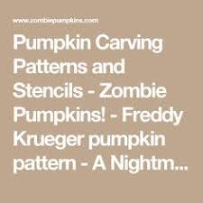 Printable Freddy Krueger Pumpkin Stencils by Freddy Krueger Pumpkin Pumpkin Carving Pinterest Freddy