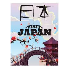 Visit Japan Retro Travel Poster Postcard