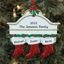 Personalized Christmas Ornaments Family Onament With Stockings