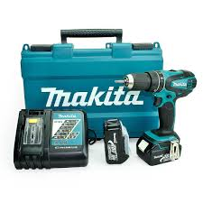 Makita Uk Production Tools makita dhp456rfe lxt 18v li ion combi drill 2 x 3 0 ah battery