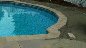 bullnose coping and ribbon pool patio