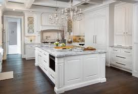 Dream Kitchen Chandeliers Decor White Grey Wood Floor