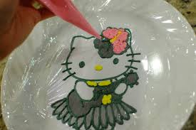 Hello Kitty Cake how to make frosting transfers for easy cake