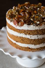 Pumpkin Spice Layer Cake With Cinnamon Brown Sugar Cream Cheese Frosting And Pepita Brittle