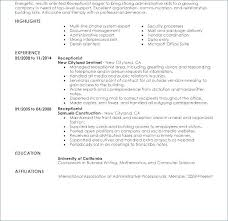 Receptionist Objective On Resume This Is Dental Resumes Samples General Entry Level Medical