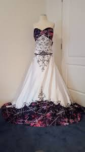 ANITA wedding gown with Muddy Girl camo as the accent color
