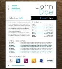 Graphic Designer Resume Sample Word Template Design Example
