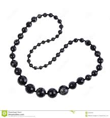 Black necklace stock photo Image of background adornment