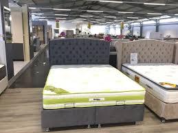 kastenbett stoff grau 160 180 orthopädisch schlafzimmer