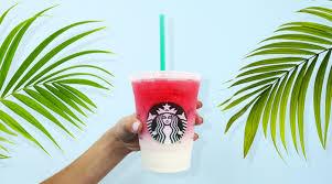 Ombre Pink Starbucks Drink