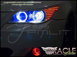 04 10 bmw 5 series led dual color halo rings headlights bulbs