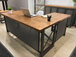 Office L Shaped Desk Rustic
