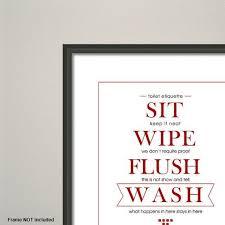 Items Similar To Toilet Etiquette Art Print