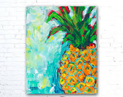 Pineapple Decor Hawaiian Wall Art Gifts Print