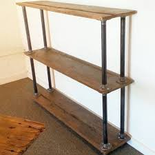 Maine Barn Wood And Metal Pipe Bookshelf Industrial Bookcase