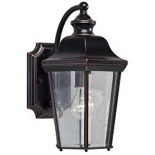 shop portfolio 14 25 in h olde copper outdoor wall light at lowes
