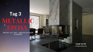 metallic epoxy floor im wohnzimmer epoxidharzboden zuhause