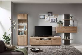 ideal möbel wohnwand 57 taupe grau artisan eiche