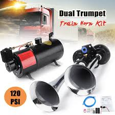 New Train Horn Kit Loud Dual 2 Trumpet W/ 120 PSI Air Compressor ... Tips On Where To Buy The Best Train Horn Kits Horns Information Truck Horn 12 And 24 Volt 2 Trumpet Air Loudest Kleinn 142db Air Compressor Kit230 Kit Kleinn Velo230 Fits 09 Hornblasters Hkc3228v Outlaw 228v Chrome 150db Air Horn Triple Tubes Loud Black For Car Universal 125db 12v Silver Trumpet Musical Dixie Duke Hazzard Trucks 155db 200psi Viair System Conductors Special How Install Bolton On A 2010 Silverado Ram1500230 Ram 1500 230 With 150psi Airchime K5 540