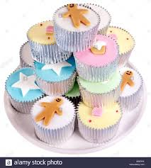 PLATE OF FAIRY CAKES OR CUPCAKES CUT OUT