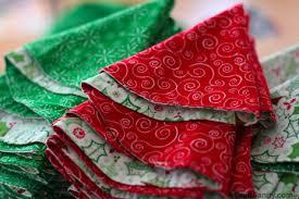 One Snow Day Two Dozen Cloth Napkins Folded Into Christmas Trees
