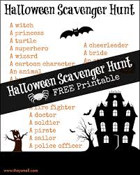 Halloween Scavenger Hunt Riddles by Halloween Scavenger Hunt Printable 1 Jpg