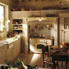 Country Kitchen Dining Table Farmhouse Rustic Style Small Design Ideas All Wood Cabinet