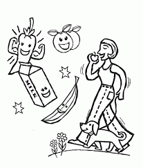 Healthy And Nutritious Food Coloring Pages Food Coloring Pages