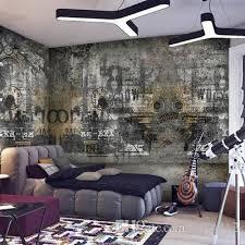 großhandel graffiti wandbilder persönlichkeit nostalgischen retro thema café shop ktv bar graue tapete wallpaper xyls312 21 97 auf