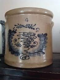 15 gallon primitive butterfly salt glazed North Star crock