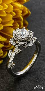 Rose Engagement Ring GreenLakeJewelry
