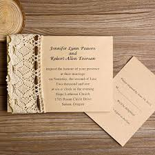 Rustic Wedding Invitations With Free Response Cards Part 2 Classy