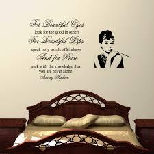 Full Size Of Black Vinyl Wall Decal Quote Decor Design For Bedrooms Audrey Hepburn