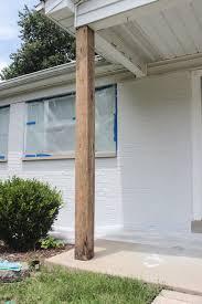 DIY Craftsman Style Porch Columns Shades of Blue Interiors