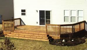 12 x 24 attached deck with wide stairway at menards
