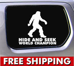 Bigfoot Hide & Seek World Champion Vinyl Sticker Funny Decal For Car ... My Other Ride Is Your Mom Funny Car Sticker Decal Funny The Shocker Car Jdm Vinyl Window Decal Sticker Import Hand Truck Saying Stickers And Quotes Page 2 Ford Your Stick Family Was Delicious Dinosaur Bumper Buy Bigger Than Texas Usa 4x4 Awd 4wd Off Road Truck Cool Stickers For Cars Sruptalentcom Im Loving It Mcdonalds Slammed Ranger Double Cab 25 X 85 Tailgater Kiss Ass Joke Fits If You Think This Is Slow Wait Till We Go Uphill Caravan Dirty Diesel Banner Vinyl Diesel Vw Dub Euro Bigfoot Hide Seek World Champion For