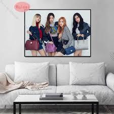 kpop schwarz rosa poster wand kunst aufkleber papier drucke leinwand malerei bild für wohnzimmer schlafzimmer bar hause dekoration