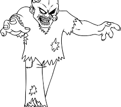 Zombie Coloring Pages Free Printable Zombies For Kids Pictures